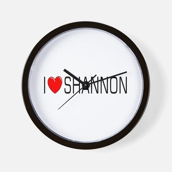 I Love Shannon Wall Clock