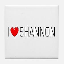I Love Shannon Tile Coaster