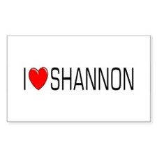 I Love Shannon Rectangle Decal