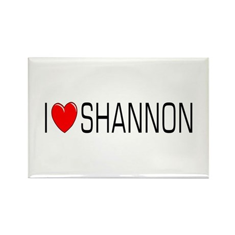 I Love Shannon Rectangle Magnet