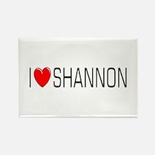 I Love Shannon Rectangle Magnet