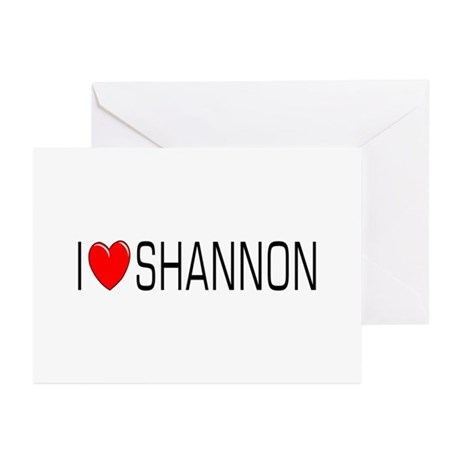I Love Shannon Greeting Cards (Pk of 10)