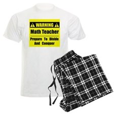WARNING: Math Teacher 1 Pajamas