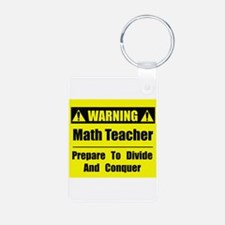WARNING: Math Teacher 1 Keychains