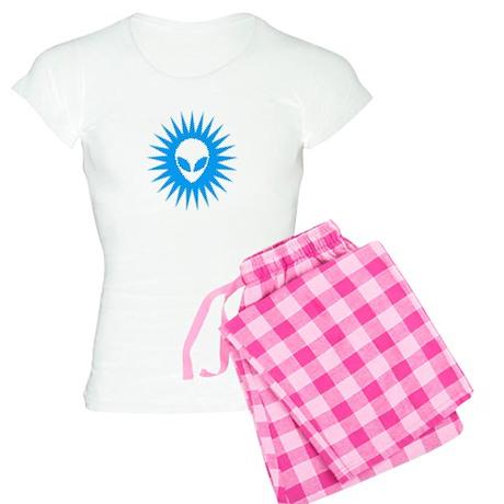 Sun Schwa Blue Women's Light Pajamas