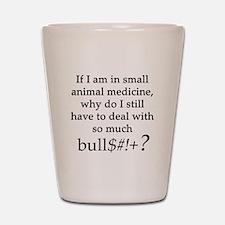 Small Animal Medicine Bull**** Shot Glass
