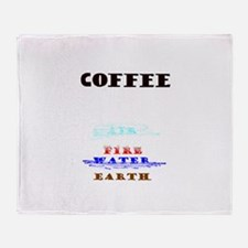 Coffee Science Throw Blanket