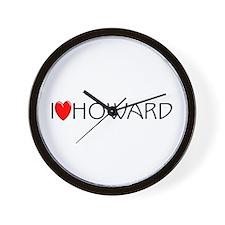 I Love Howard Wall Clock