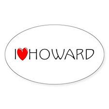 I Love Howard Oval Decal