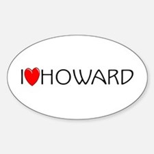 I Love Howard Oval Decal