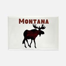 Montana Moose Rectangle Magnet