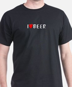 I Love Beer Black T-Shirt