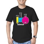 Test Tubes Men's Fitted T-Shirt (dark)