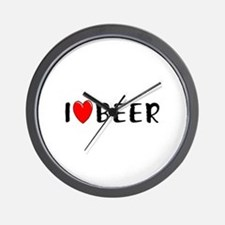 I Love Beer Wall Clock