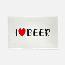 I Love Beer Rectangle Magnet