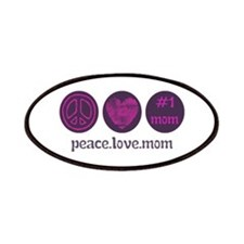 PEACE LOVE #1 MOM Patches