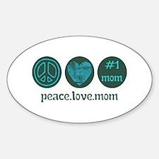 PEACE LOVE #1 MOM Decal