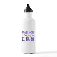 General Cancer Love Hope Water Bottle