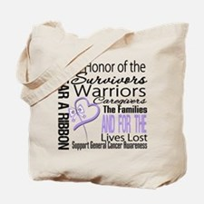 General Cancer Tribute Tote Bag