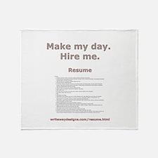 Resume Throw Blanket