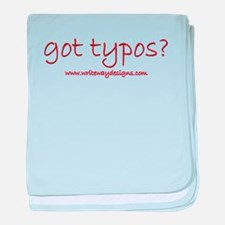 Got Typos? baby blanket