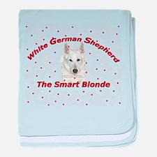 The Smart Blonde baby blanket