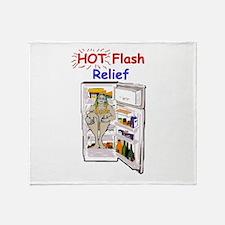 Hot Flash Relief Throw Blanket