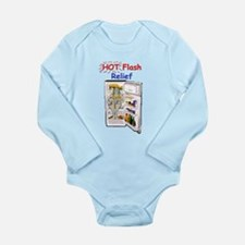 Hot Flash Relief Long Sleeve Infant Bodysuit