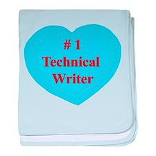 #1 Technical Writer baby blanket