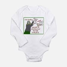 I love deadlines! Long Sleeve Infant Bodysuit