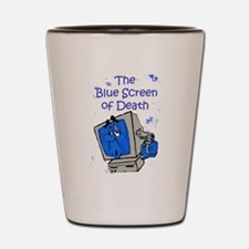 The Blue Screen of Death Shot Glass
