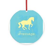 -piaffe- dressage horse Ornament (Round)