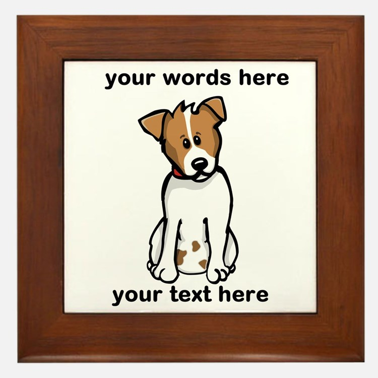 Jack Russell - Custom Framed Tile