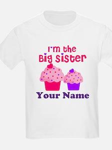 Big Sister Cupcake Custom T-Shirt