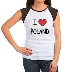 I heart poland Women's Cap Sleeve T-Shirt