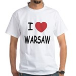 I heart warsaw White T-Shirt
