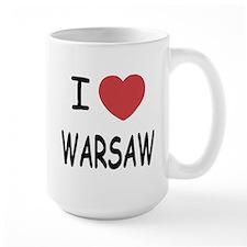 I heart warsaw Mug