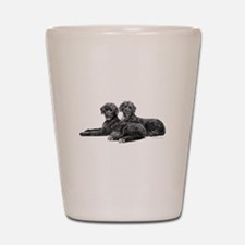 Portuguese Water Dogs Shot Glass