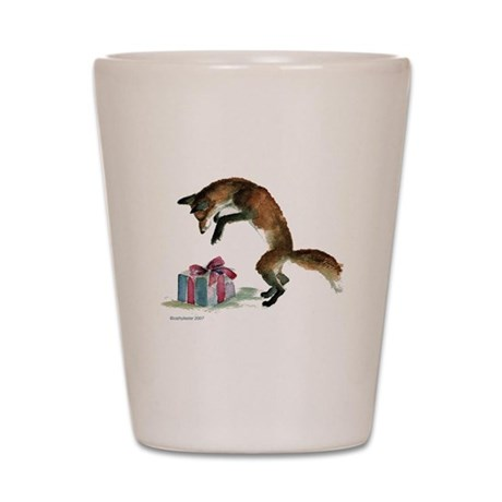 Fox and Present Shot Glass