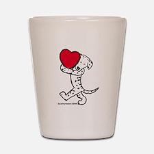 Dalmatian Valentine Shot Glass