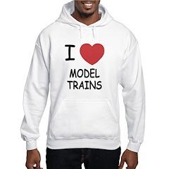 I heart model trains Hoodie