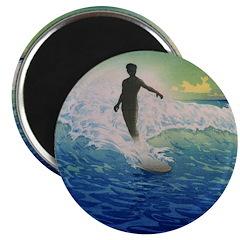 Vintage Surfer Magnet