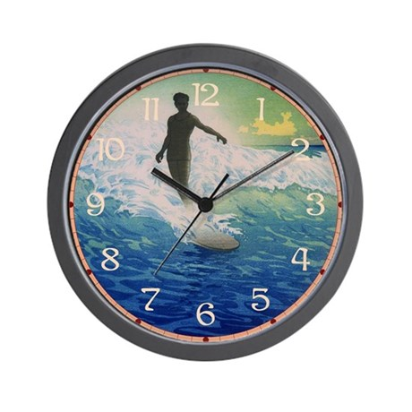 Vintage Surfer Wall Clock