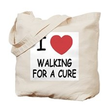 i heart walking for a cure Tote Bag