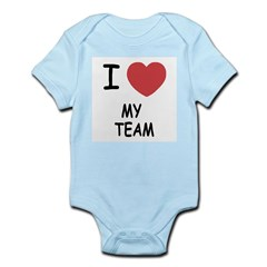 I heart my team Infant Bodysuit