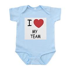 I heart my team Infant Bodysuit