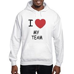 I heart my team Hoodie