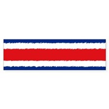 Costa Rican Flag Bumper Sticker