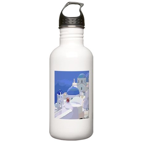 Greece Stainless Water Bottle 1.0L