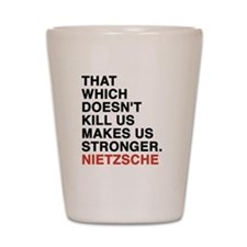 nietzsche quotes Shot Glass